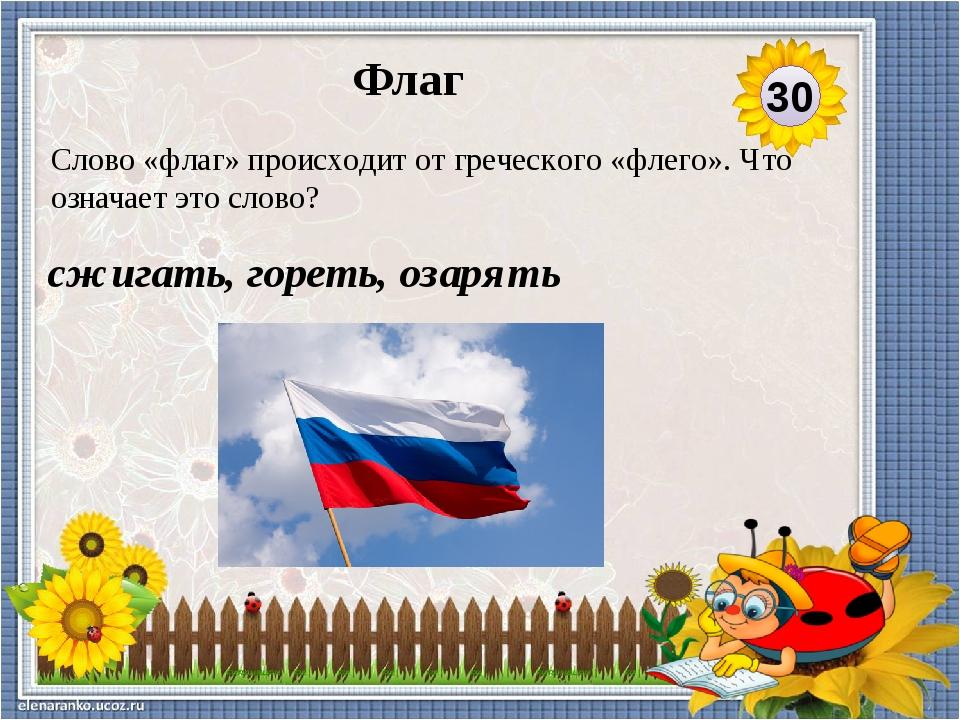 стяг Как в древности восточные славяне, русы, называли флаг? 40 Флаг