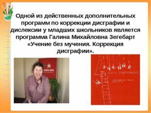 Одной из действенных дополнительных программ по коррекции дисграфии и дислекс