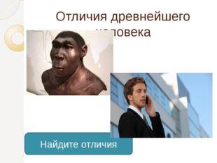 Отличия древнейшего человека Найдите отличия