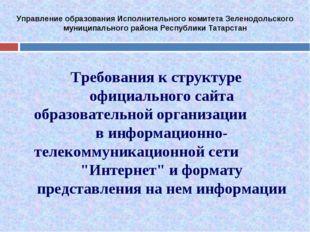 Управление образования Исполнительного комитета Зеленодольского муниципальног