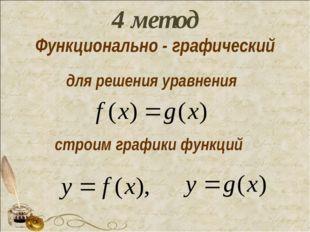 для решения уравнения строим графики функций 4 метод Функционально - графичес