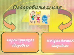 Оздоровительная среда «тренирующая здоровье» «сохраняющая здоровье» В педагог