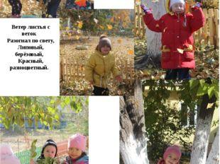 Ветер листья с веток Разогнал по свету, Липовый, берёзовый, Красный, разноцве