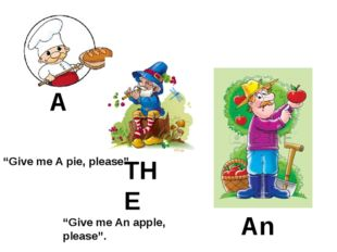 "A An THE ""Give me A pie, please"". ""Give me An apple, please""."