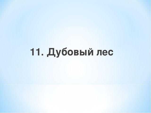 11. Дубовый лес
