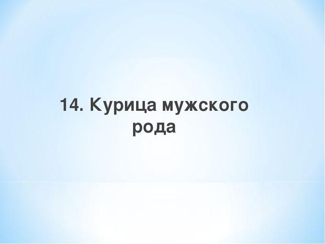 14. Курица мужского рода