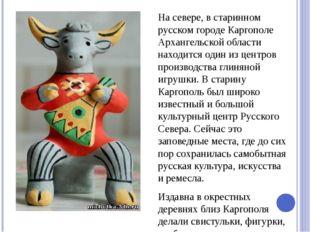 На севере, в старинном русском городе Каргополе Архангельской области находи