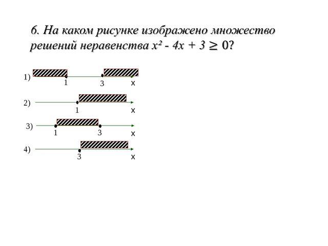 3) 4) 2) 1) 1 1 1 3 3 3 х х х х