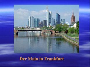 Der Main in Frankfurt