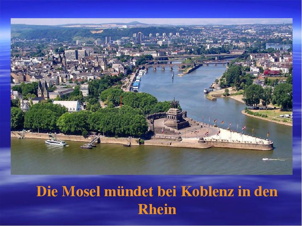 Die Mosel mündet bei Koblenz in den Rhein