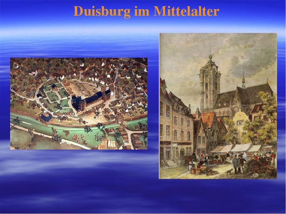 Duisburg im Mittelalter