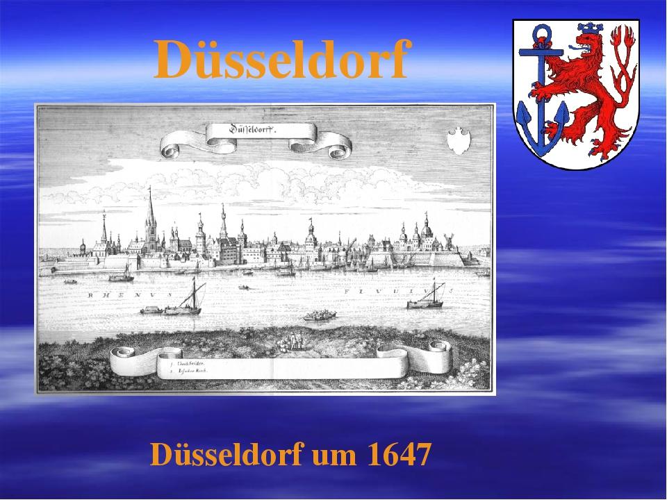 Düsseldorf Düsseldorf um 1647