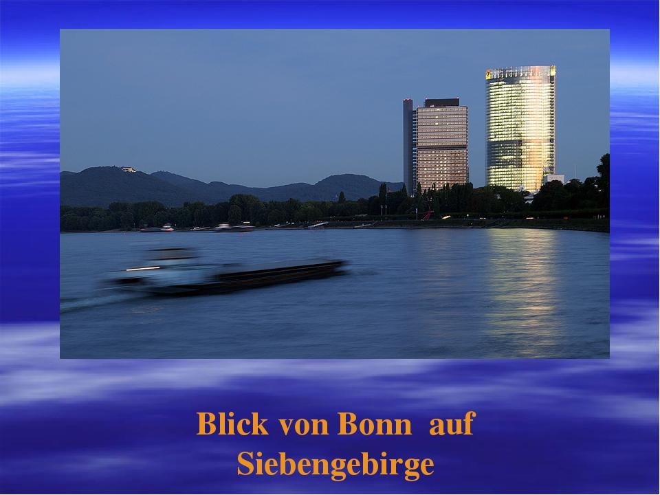 Blick von Bonn auf Siebengebirge