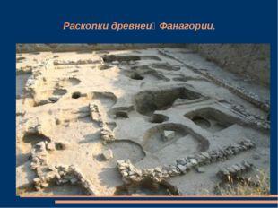 Раскопки древней Фанагории.