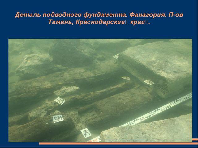 Деталь подводного фундамента. Фанагория. П-ов Тамань, Краснодарский край.