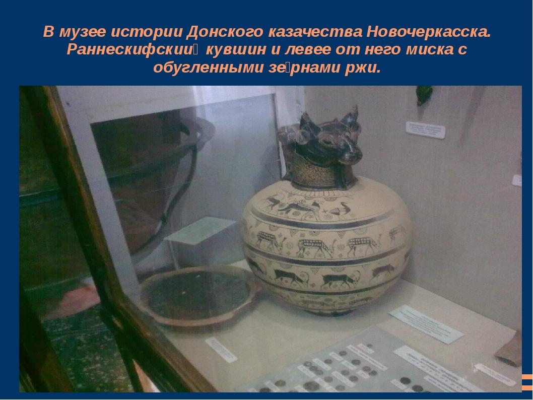 В музее истории Донского казачества Новочеркасска. Раннескифский кувшин и ле...