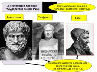 3. Появление древних государств (Греция, Рим) Систематизация знаний о человек