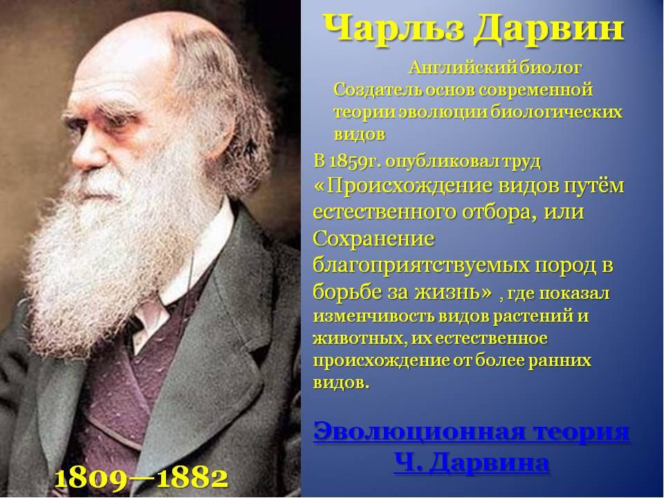 Эволюционная теория дарвина антидарвинизм кратко