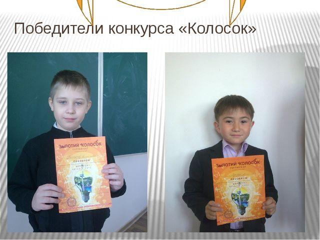 Победители конкурса «Колосок»