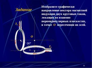 * Задание Изобразите графически направление вектора магнитной индукции двух к