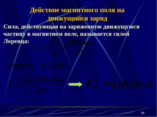 * Сила, действующая на заряженную движущуюся частицу в магнитном поле, называ...