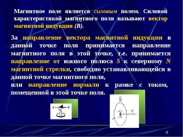 * За направление вектора магнитной индукции в данной точке поля принимается н...