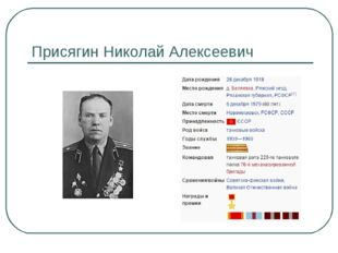 Присягин Николай Алексеевич