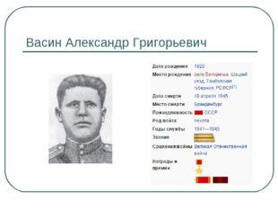 Васин Александр Григорьевич