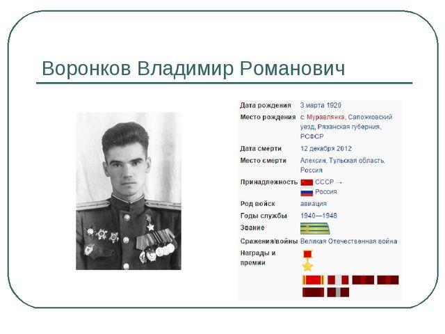 Воронков Владимир Романович