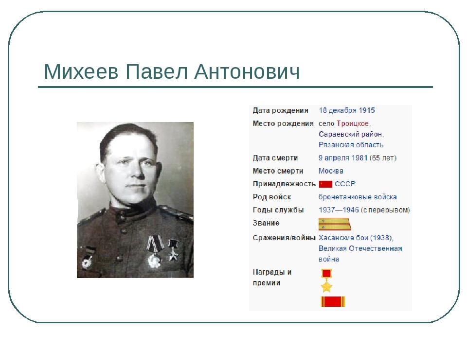 Михеев Павел Антонович