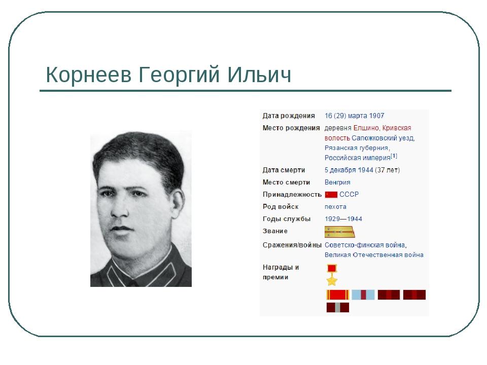 Корнеев Георгий Ильич