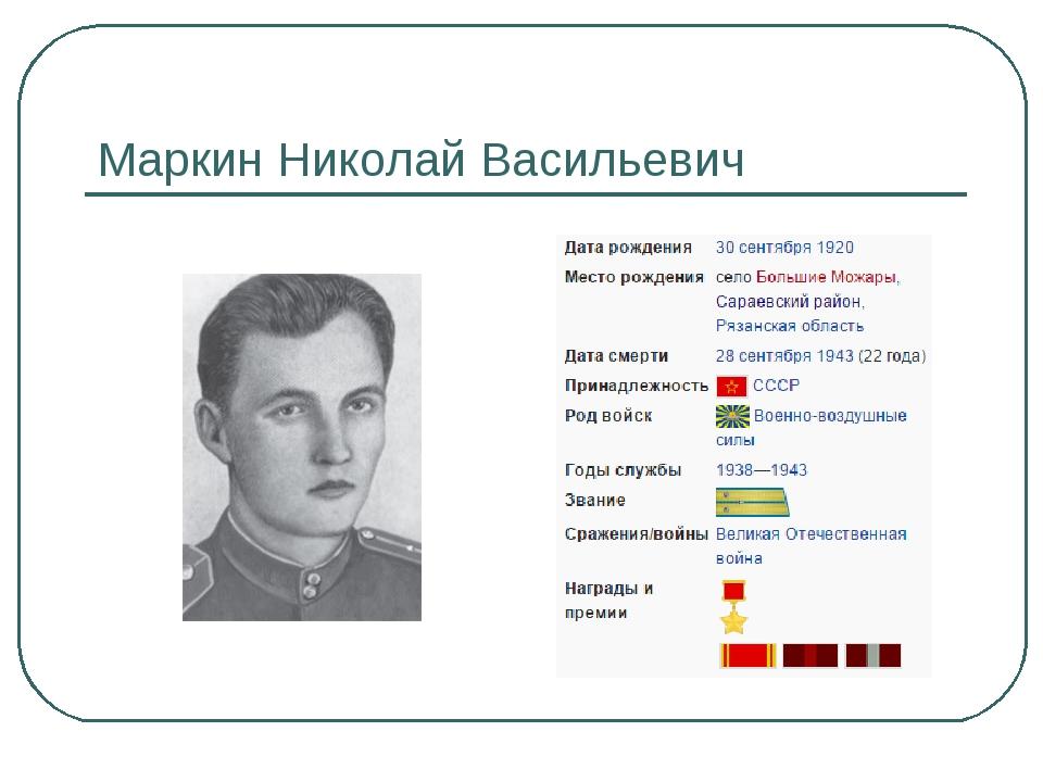 Маркин Николай Васильевич