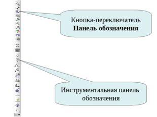 Кнопка-переключатель Панель обозначения Инструментальная панель обозначения