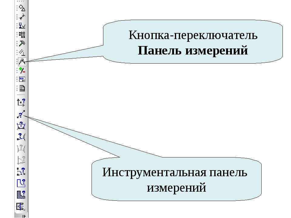 Кнопка-переключатель Панель измерений Инструментальная панель измерений