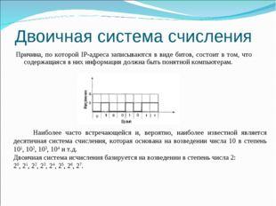Двоичная система счисления Причина, по которой IP-адреса записываются в виде