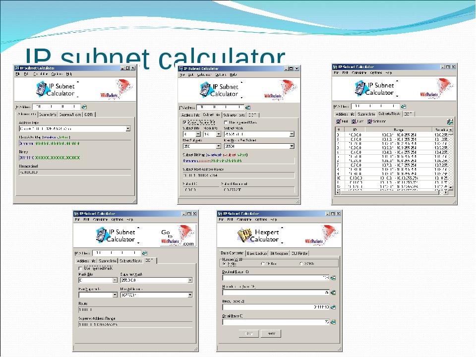 IP subnet calculator