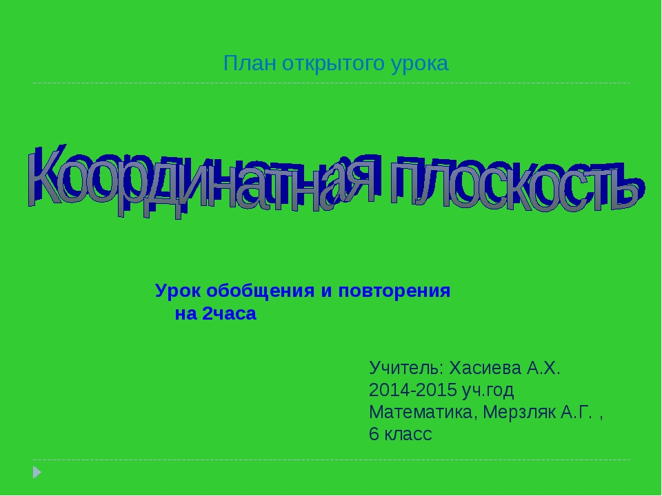 Урок обобщения и повторения на 2часа Учитель: Хасиева А.Х. 2014-2015 уч.год М...