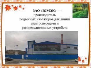 ЗАО «ЮМЭК»— производитель подвесныхизоляторовдлялиний электропередачи и
