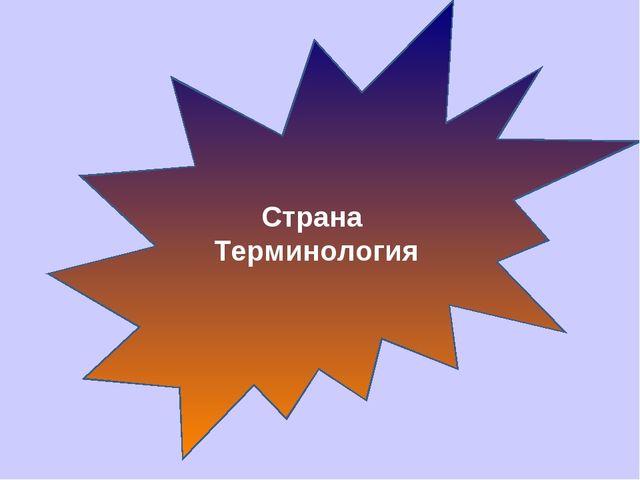 Страна Терминология