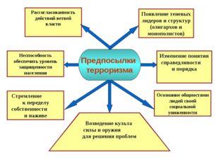 Рассогласованность действий ветвей власти Появление теневых лидеров и структу