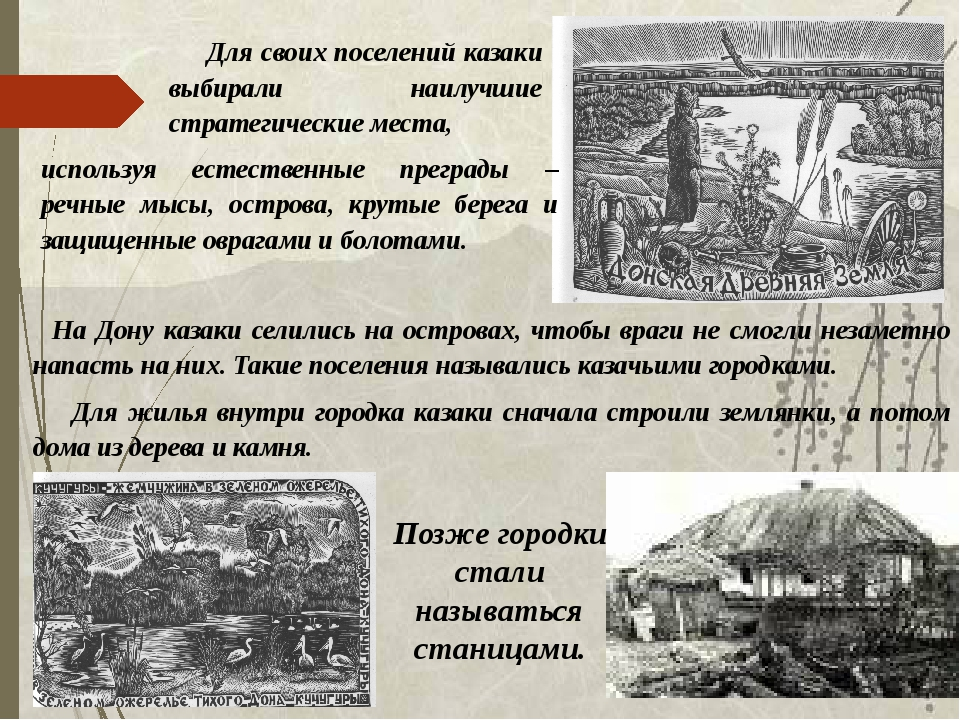 На Дону казаки селились на островах, чтобы враги не смогли незаметно напасть...