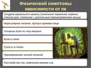 Физической симптомы зависимости от пк Синдром карпального канала (туннельное