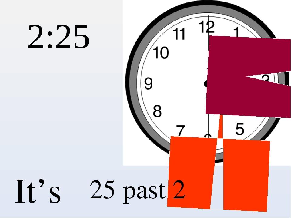 2:25 It's 25 past 2