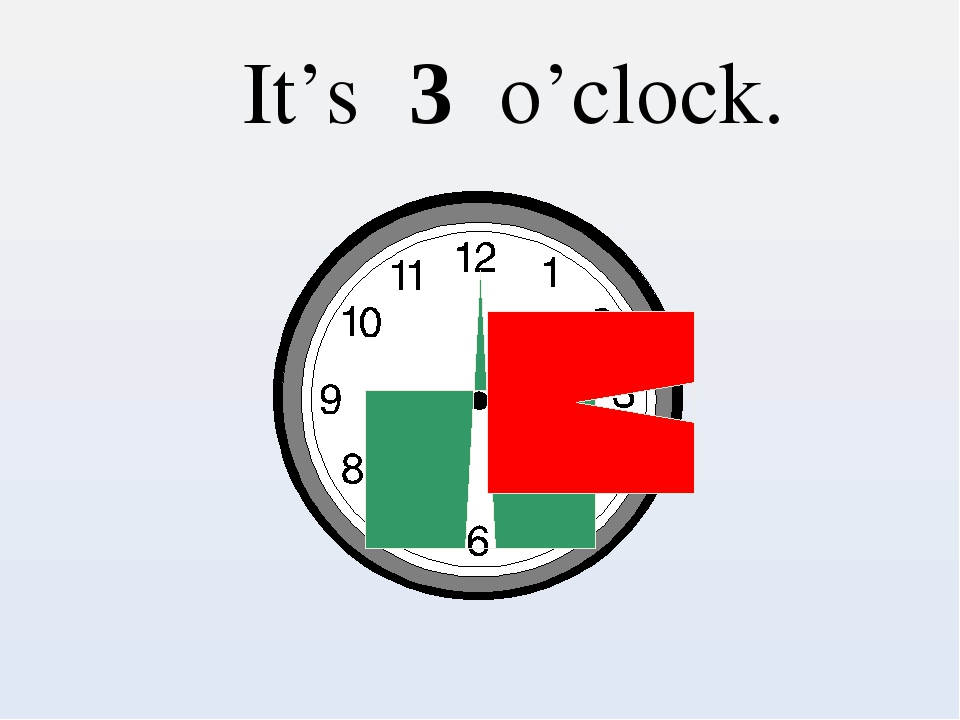 It's 3 o'clock.
