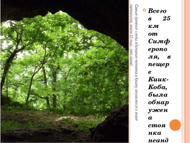 Самые древние следы обитания человека в Крыму относятся к эпохе палеолита, ок...