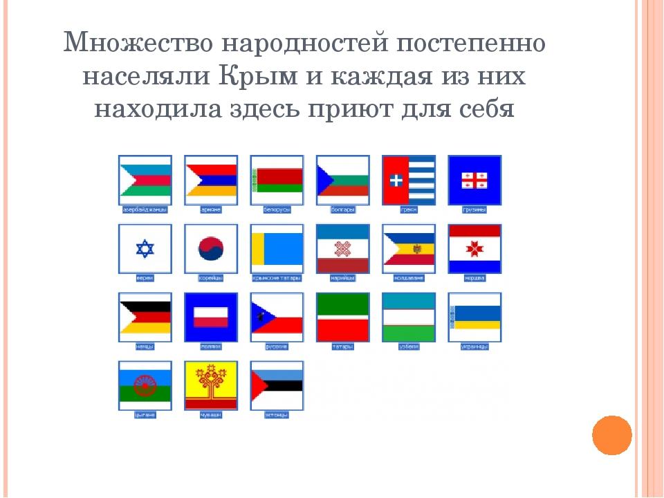 Множество народностей постепенно населяли Крым и каждая из них находила здесь...