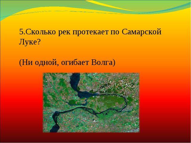 5.Сколько рек протекает по Самарской Луке? (Ни одной, огибает Волга)