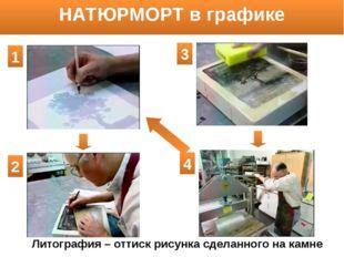 НАТЮРМОРТ в графике Литография – оттиск рисунка сделанного на камне 1 2 3 4