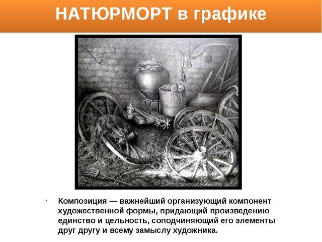 Композиция— важнейший организующий компонент художественной формы, придающий...