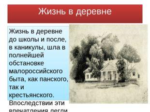 Жизнь в деревне Жизнь в деревне до школы и после, в каникулы, шла в полнейшей